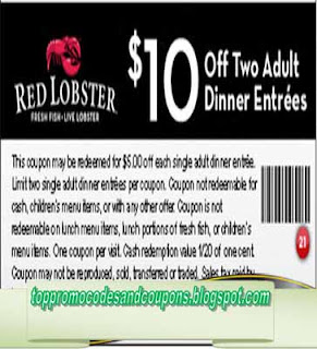 Free Printable Red Lobster Coupons