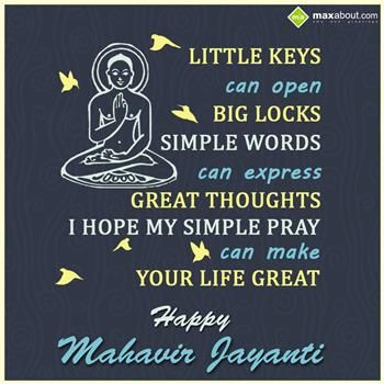 mahavir jayanti wishes image for free download