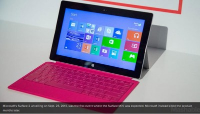 Microsoft Batal Rilis Surface Mini