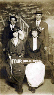 Group pose at Four Mile Creek Amusement Park (year unknown)