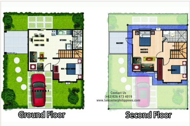 Floor Plan of Gabrielle - Lancaster New City Cavite | House and Lot for Sale Imus-General Trias Cavite