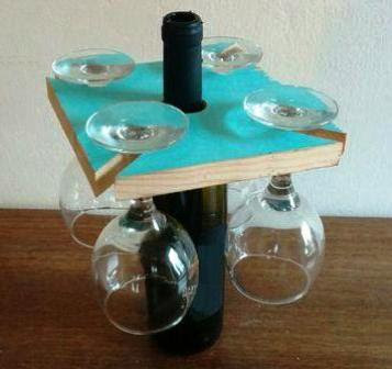 cara membuat rak gelas dari botol