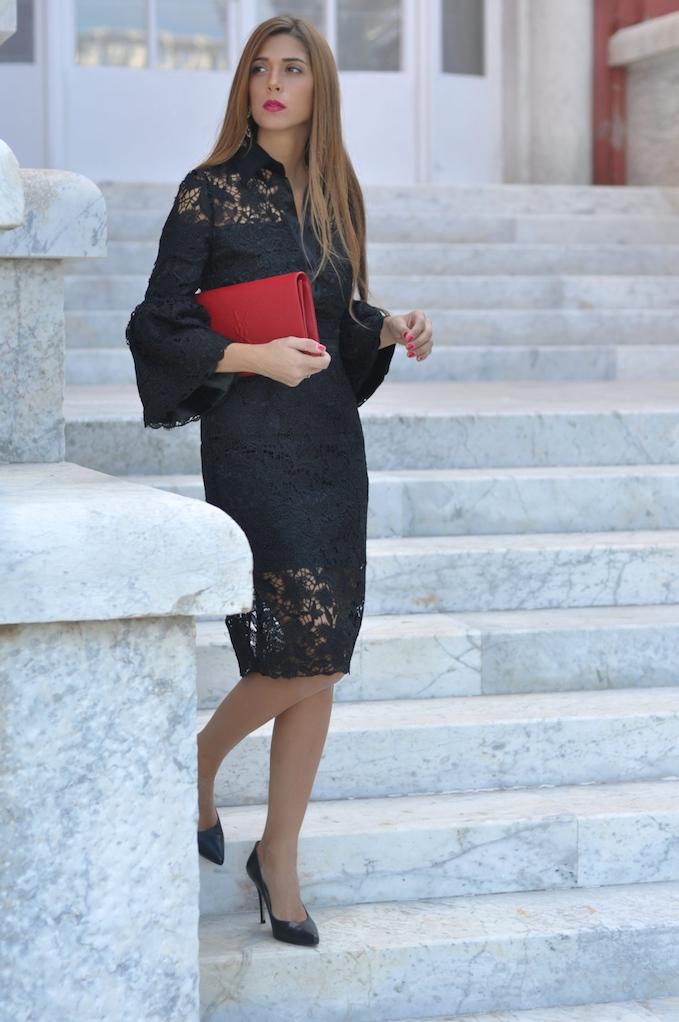 Favorito Vestito pizzo rosso santa rosa - Fashion touch italy TI52