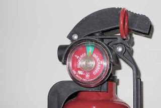 Fire extinguisher gauge.