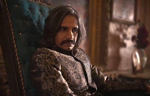 Vijay Raaz as hoodlum, love obsessed MLA Jaan Mohammad in Dedh Ishqiya, Directed by Abhishek Chaubey