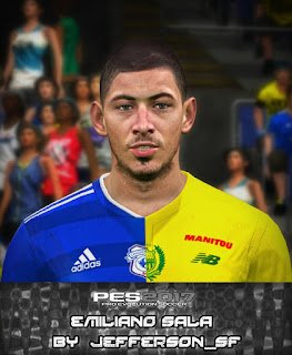 PES 2017 Faces Emiliano Sala by Jefferson_SF