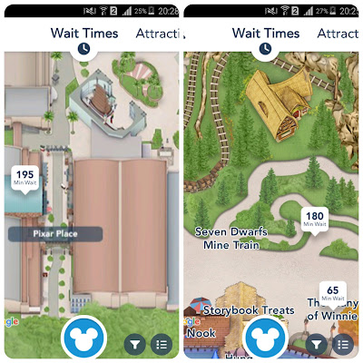 Telas do APP My Disney Experience