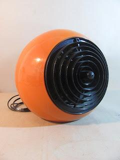 Heizlüfter Zanker Forbach Modell HK 2000 Orange 1970er top Design Bastlerteil