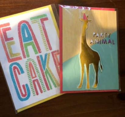 Another Great Item From Targets Dollar Aisle These Brightly Colored Birthday Cards The Back Of State They Are Handmade In Indonesia