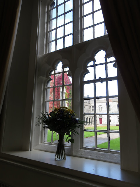 A Walking Tour of NUI Galway - Views of the Quad through the window of the Faculty Club