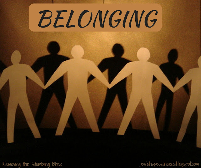 Inclusion is belonging; Removing the Stumbling Block