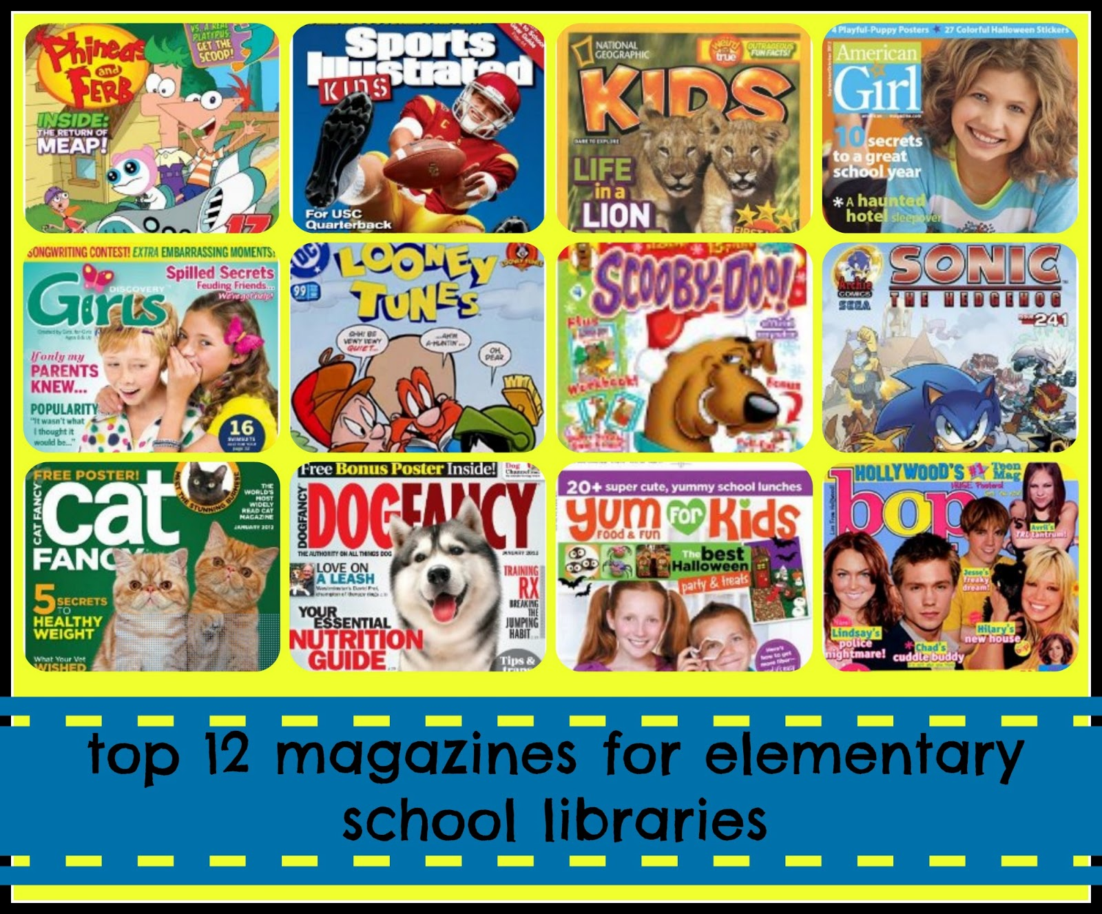 top twelve magazines for elementary students library learners