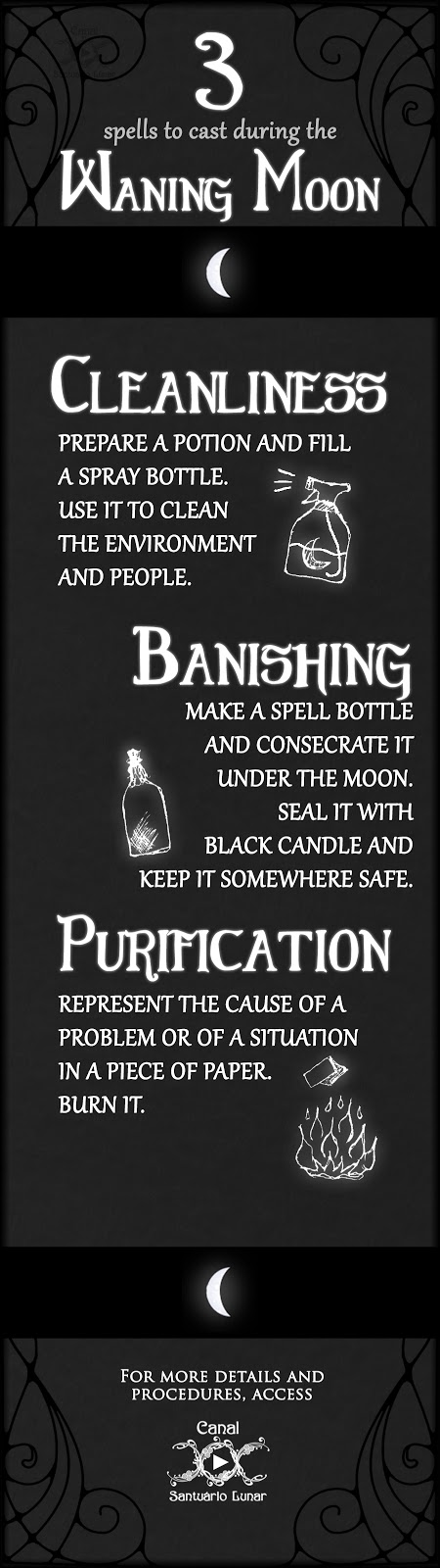 3 spells for the Waning Moon | Magic, Witchcraft, Paganism, Wicca