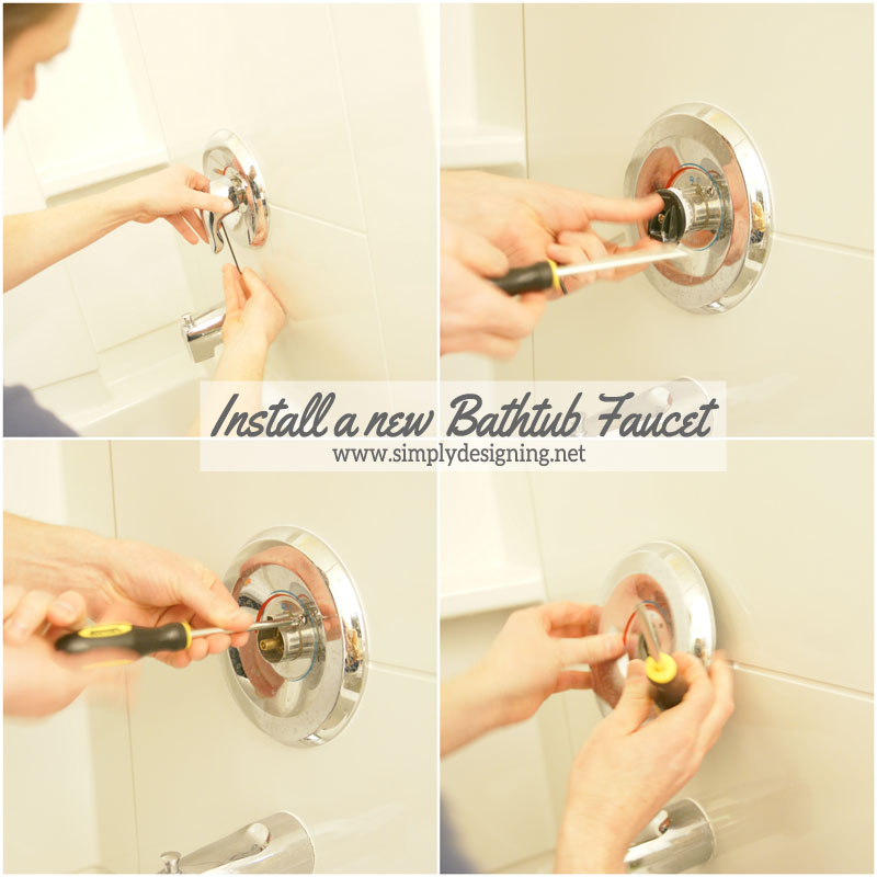 Cute Install a New Bathtub Faucet diy bathroom bathroomremodel remodel