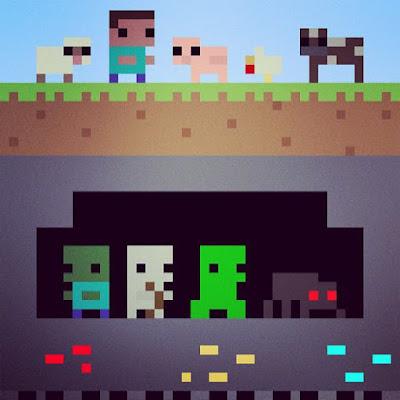 dibujo pixelado minecraft