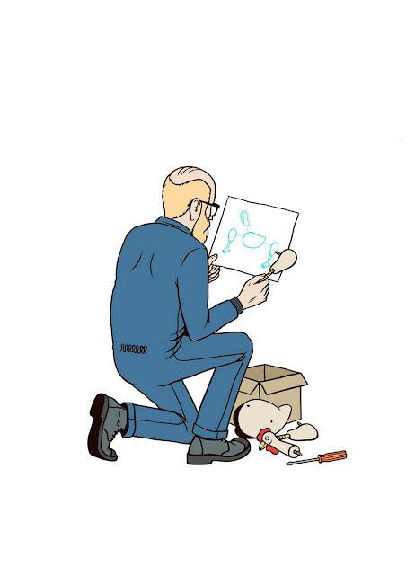 ilustracion montar pollo