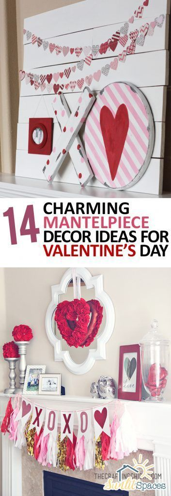 14 Charming Mantelpiece Decor Ideas for Valentines Day