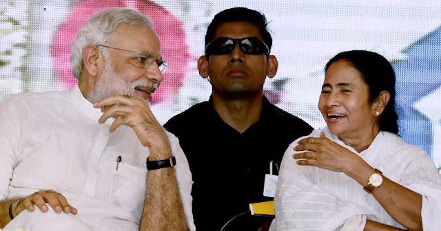 PM Narendra Modi - Bengal CM Mamata Banerjee