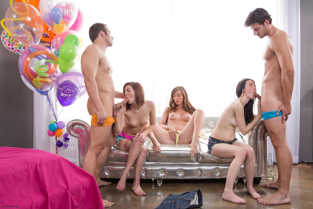 эпоху перетрахались на дне рождения онлайн сначала