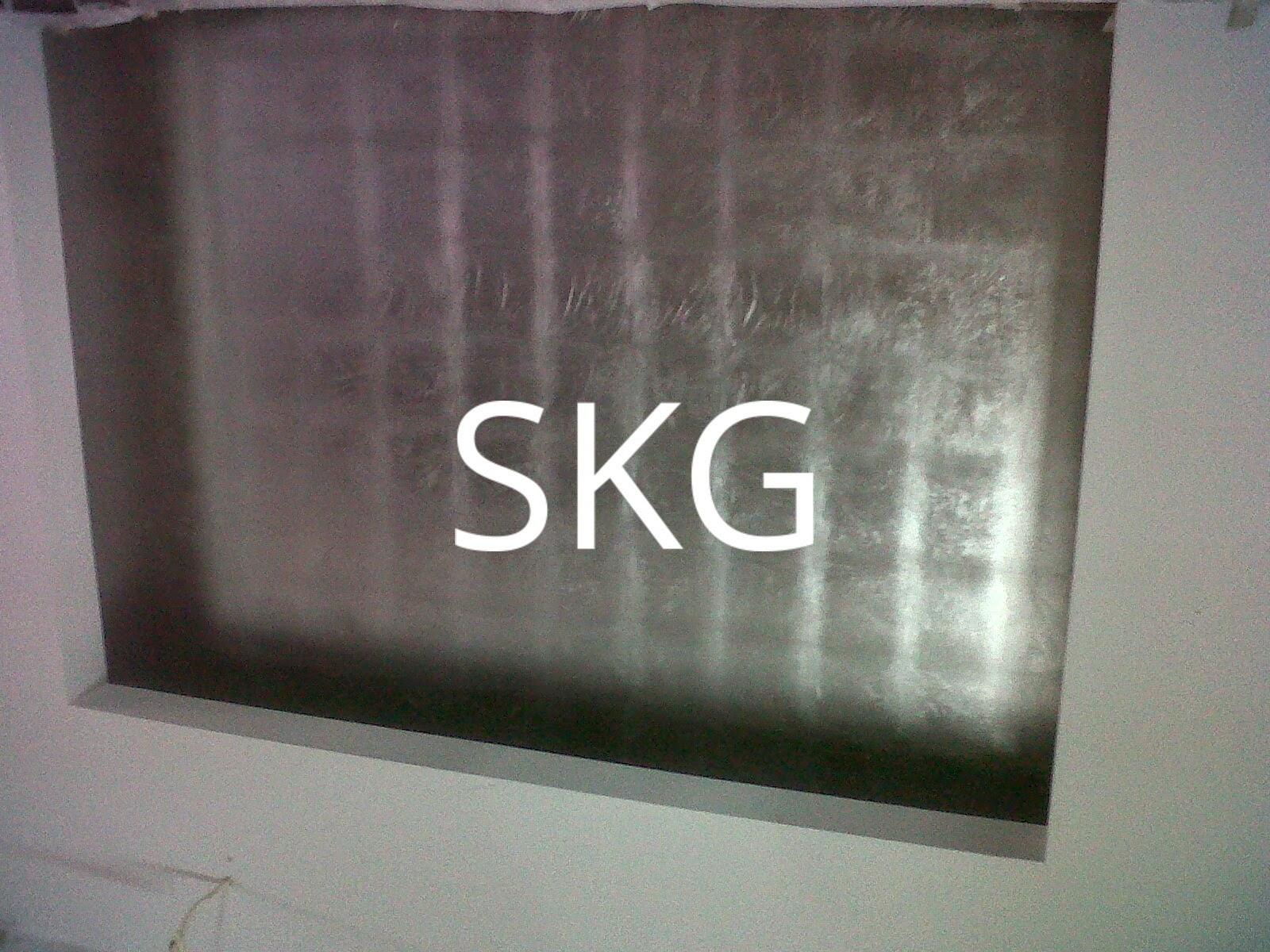 silver leaf ceiling finish
