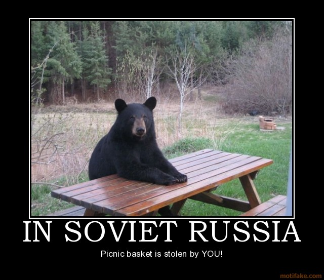 """Yogi Bear Quotes Picnic Basket: Internet FADS, What's The Deal?: """"In Soviet Russia.."""""""