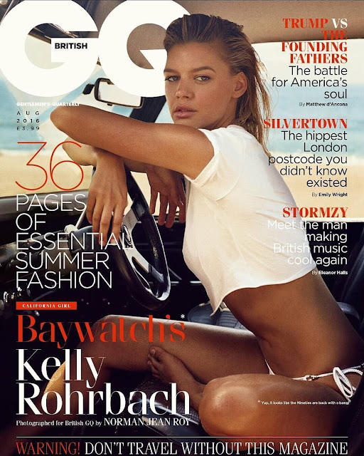 Actress, Model, @  Kelly Rohrbach Photoshoot for GQ UK August 2016