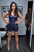 Sanjana looks happy in sparkling short Deep neck Purple Gown ~  Exclusive 58.JPG