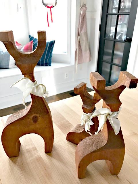 modern wood reindeer