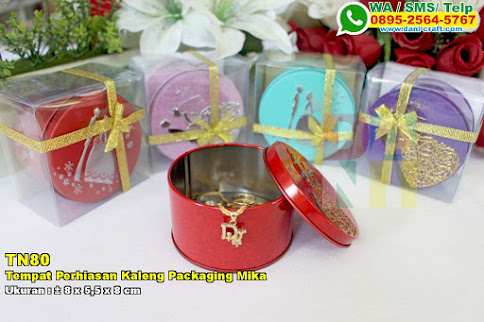 Tempat Perhiasan Kaleng Packaging Mika