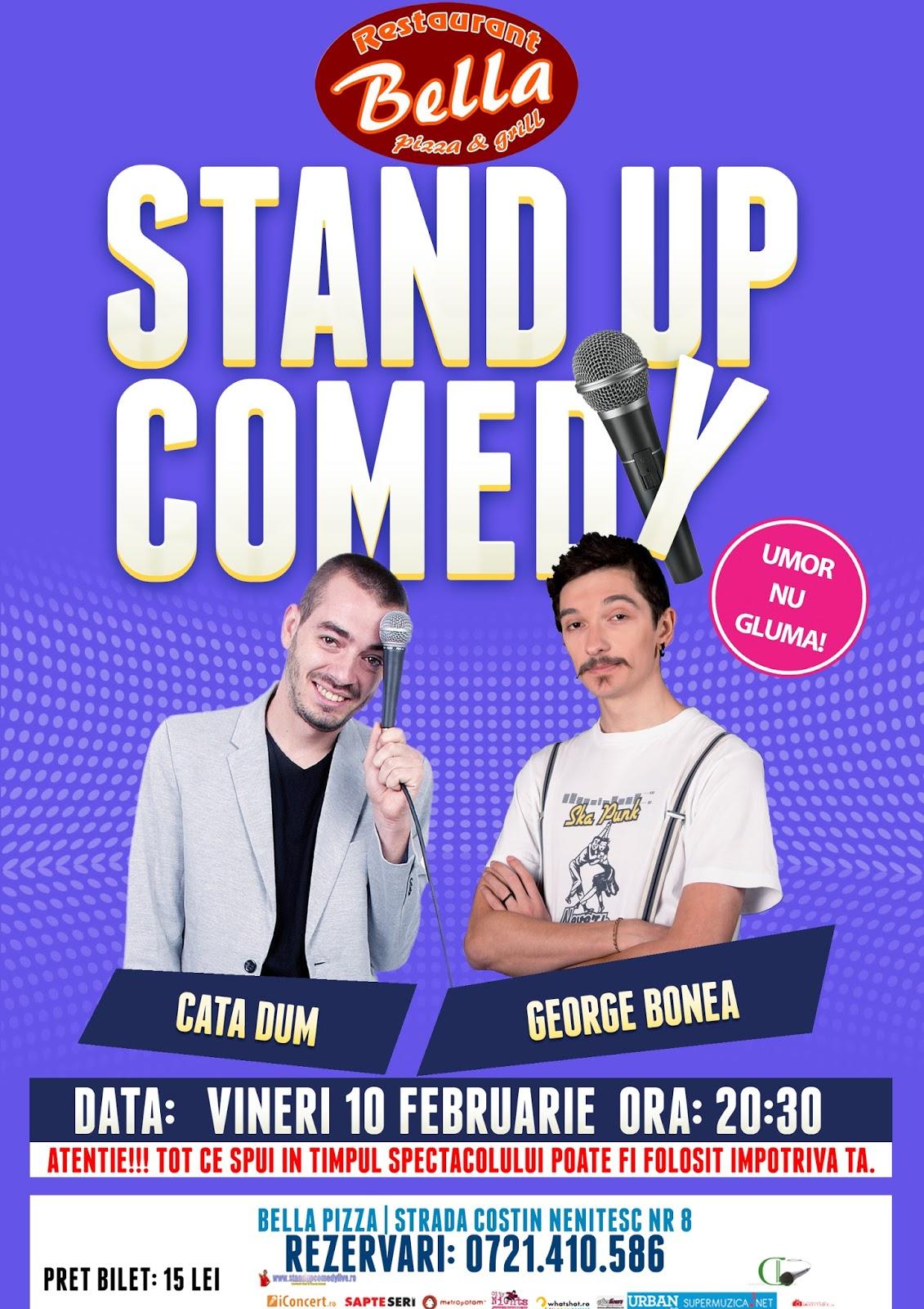 Stand-up Comedy Vineri 10 Februarie Bucuresti