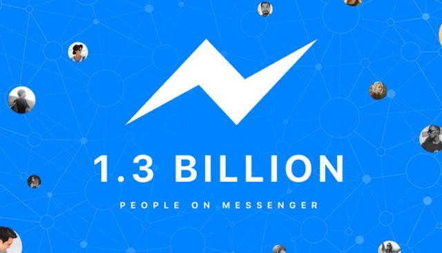 فيس بوك ماسنجر يصل إلى 1.3 مليار مستخدم نشط شهرياً