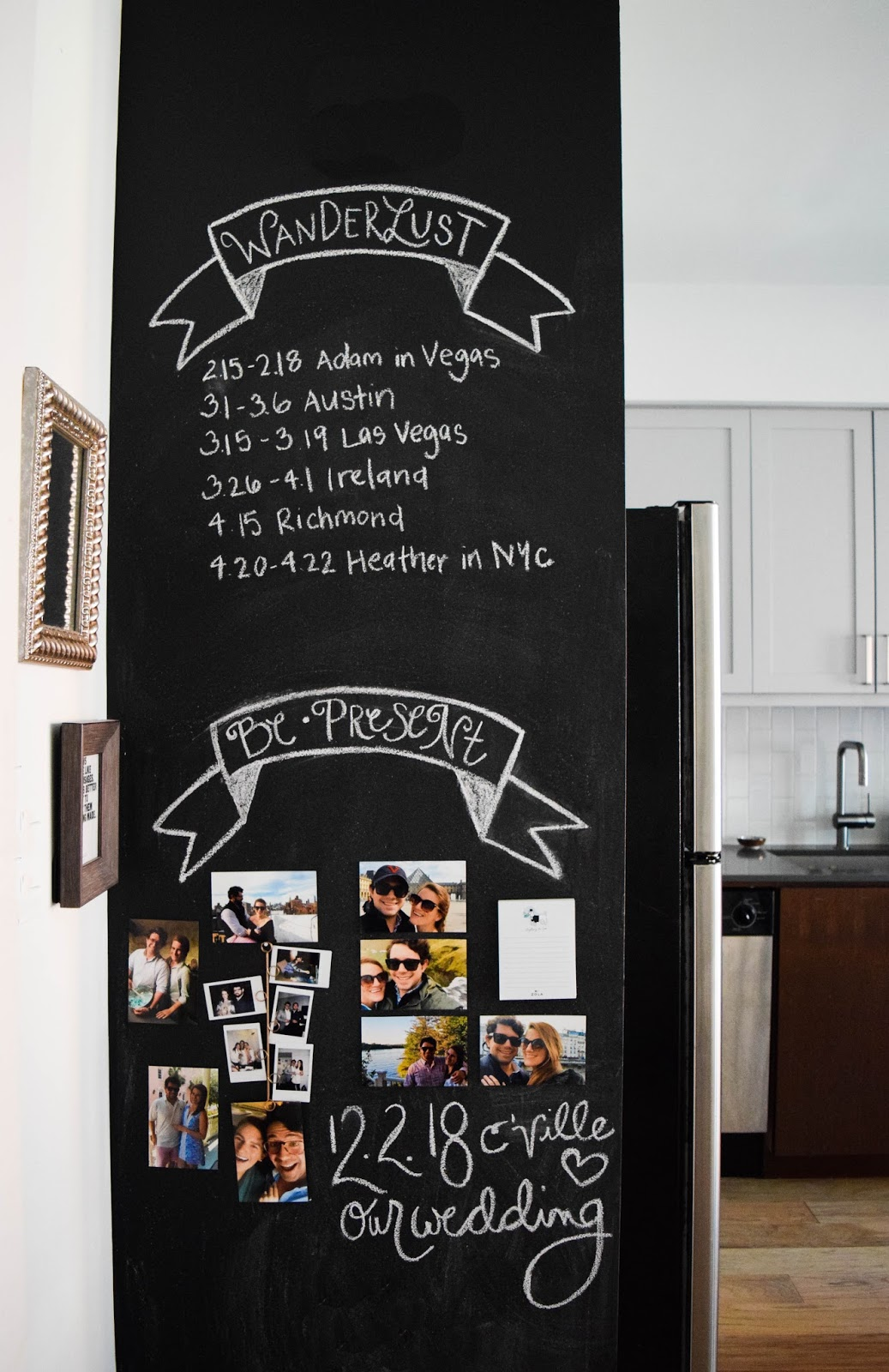 how to design a kitchen chalkboard wall heather bien. Black Bedroom Furniture Sets. Home Design Ideas