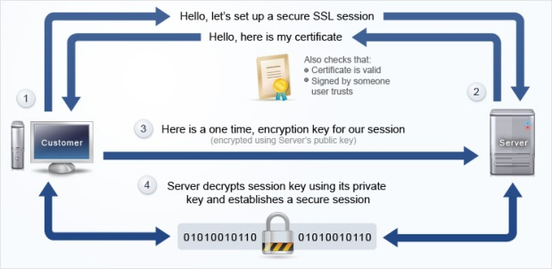 Image Showing how SSL works: Intelligent Computing