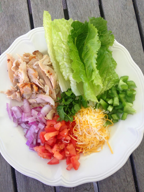 Easy Cilantro Chicken Lettuce Wrap Idea