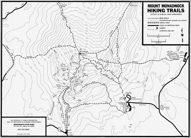 Mapa del Monadnock State Park (NH)