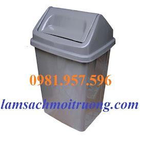 Thùng rác nhựa nắp lật, thùng rác nắp lật chất lượng cao tại Hà Nội