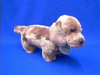 russ berrie red dachshund plush stuffed animal small classic