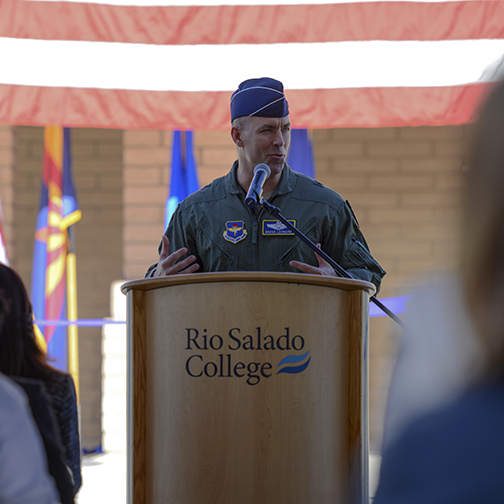 Photo of Luke Air Force Base commander Brigadier General Brook J. Leonard.