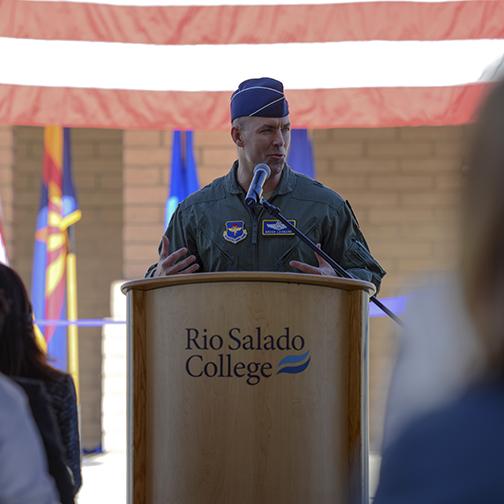 Photo of Luke Air Force Base commander Brigadier General Brook J. Leonard.