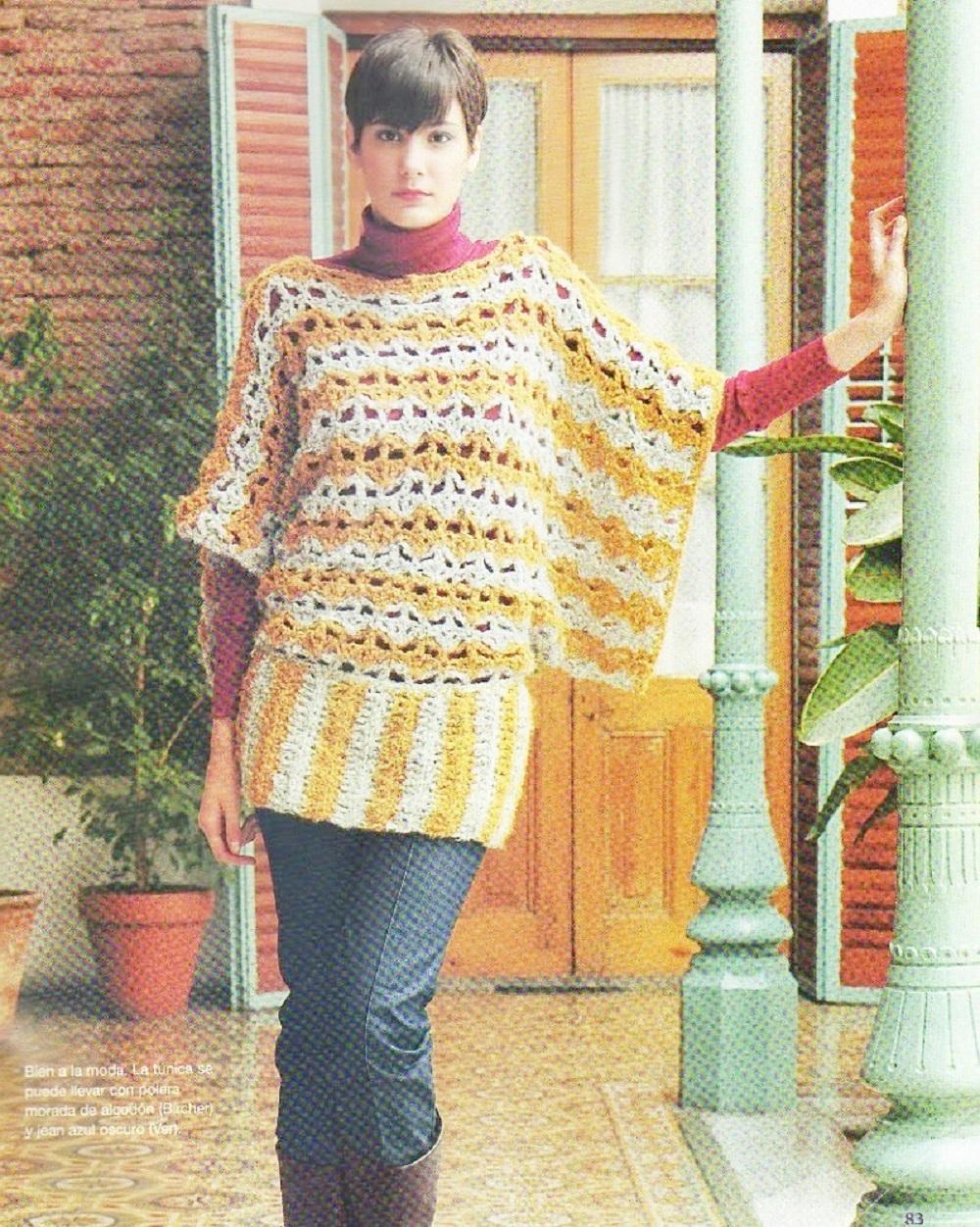 Tunica Kimono Tricot Crochet Instrucciones