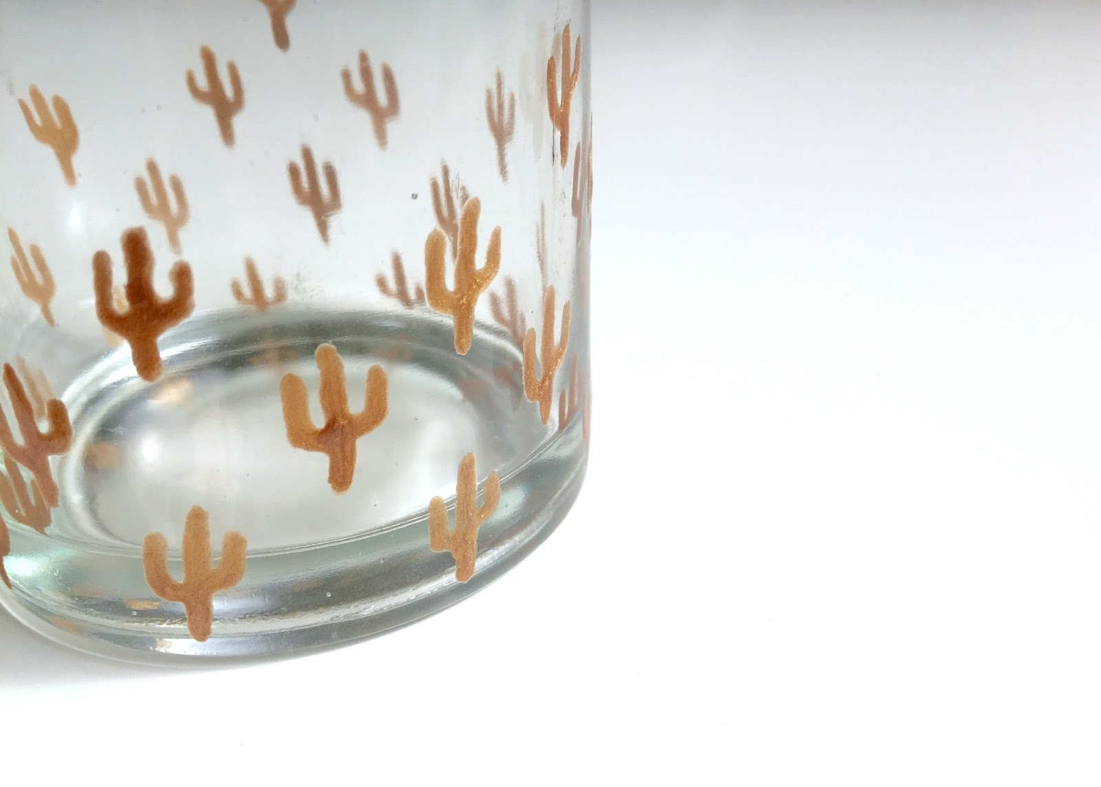 DIY Copper cactus glass votive by Isoscella
