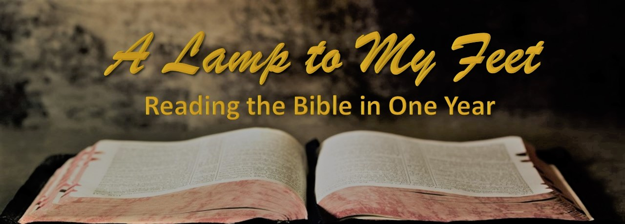 SHBC 2018 Bible Reading Challenge: November 2017