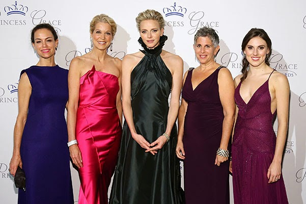 Princess Charlene at the presentation of the Princess Grace Awards