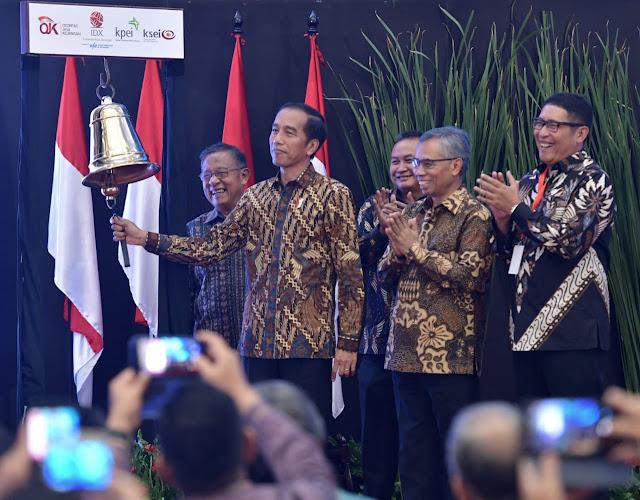 Tutup Perdagangan Bursa 2018 pada Angka 6.194, Presiden Jokowi: Kinerja IHSG Sesuai Target
