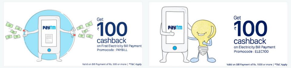 Electricity bill Pay via Paytm
