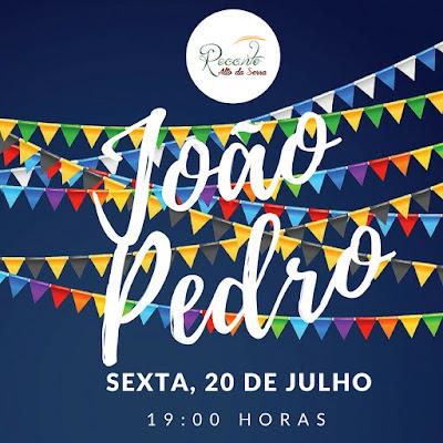 Mirante Recanto Alto da Serra apresenta o João Pedro, dia 20 de julho.