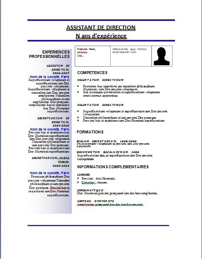 exemple de cv word maroc ₪¦| Modèles de CV : Télécharger 44 Modèles de CV Gratuits   Format  exemple de cv word maroc