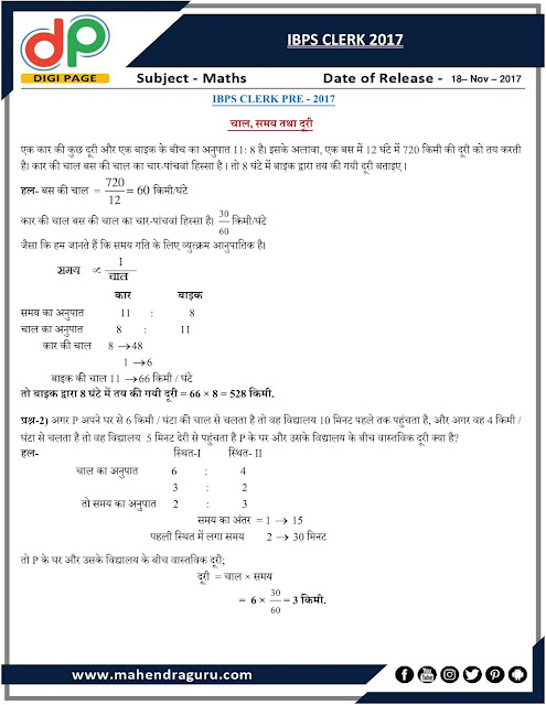 DP | Strategy For IBPS Clerk Prelims - Day - 19 | 18 - Nov - 17