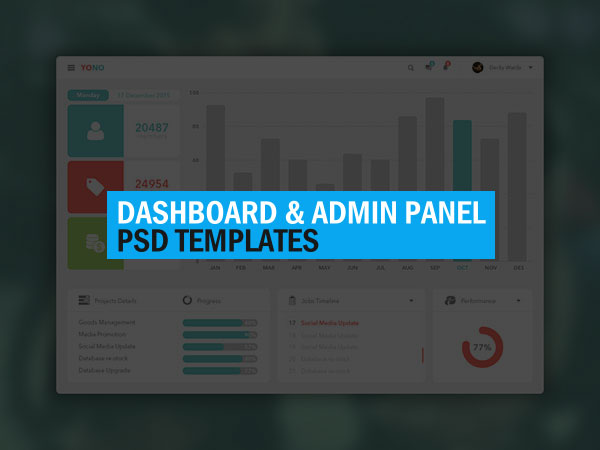 60 Best Free Admin Dashboard UI Design PSD Templates