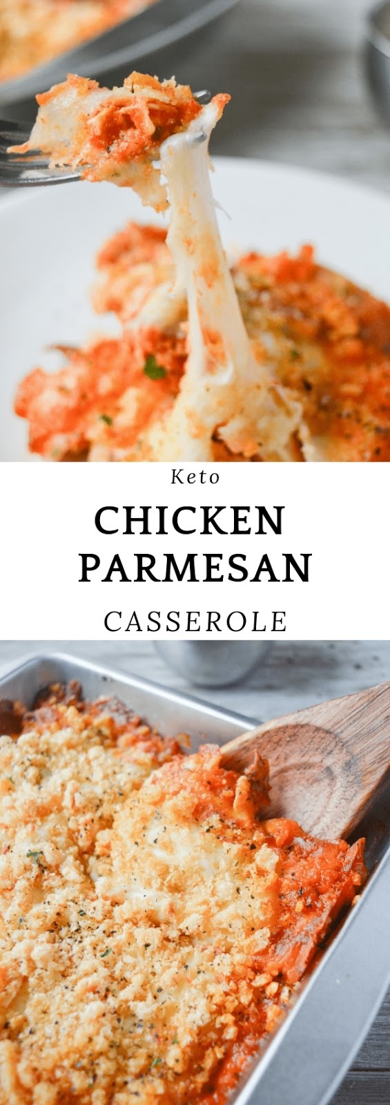 KETO CHICKEN PARMESAN CASSEROLE #dinner #maincourse #keto #chicken #parmesan #casserole